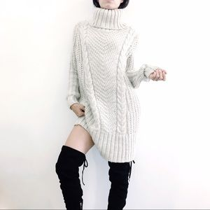 COPY - Cable knit sweater dress